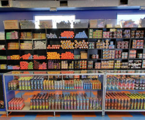 retail fireworks display